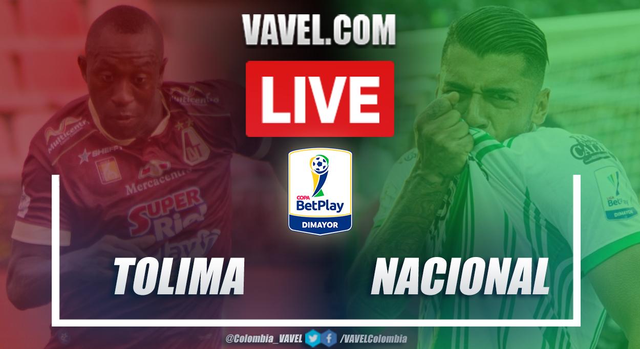 Resumen de Tolima vs Nacional (2-0) por los cuartos de final de la Copa BetPlay