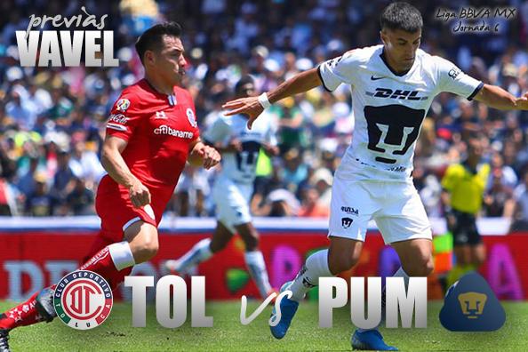 Previa Toluca - Pumas: los 'Escarlatas' no quieren dejar ir más puntos