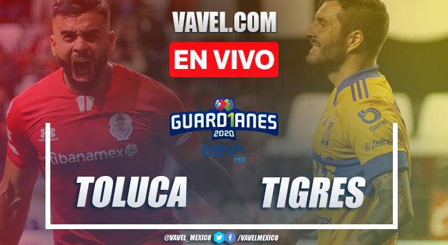Goles y resumen del Toluca 3-2 Tigres en el Guard1anes 2020