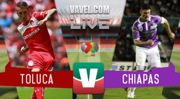 Resultado Toluca - Jaguares Chiapas en Liga MX 2015 (1-1)