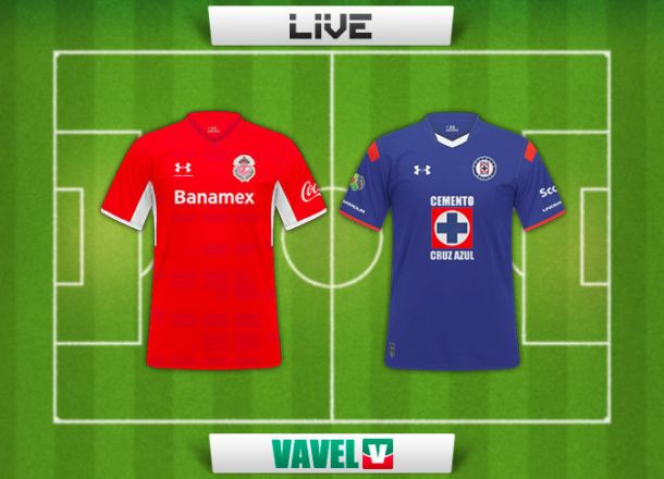 Resultado Toluca - Cruz Azul en Liga MX 2015 (1-0)
