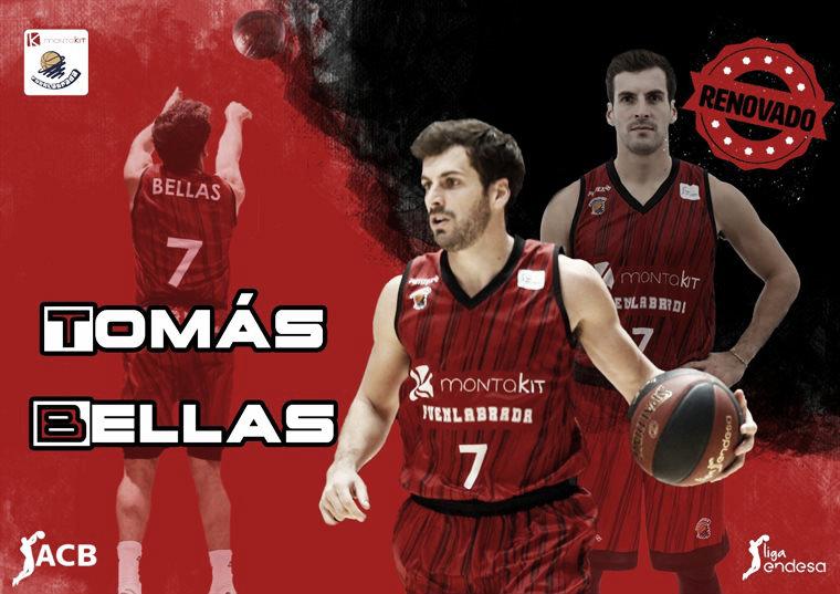 Tomás Bellas renueva con el Montakit Fuenlabrada hasta 2021