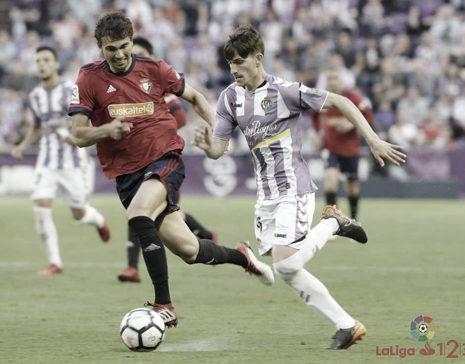 El Real Valladolid buscará romper la mala racha con el Osasuna en Primera