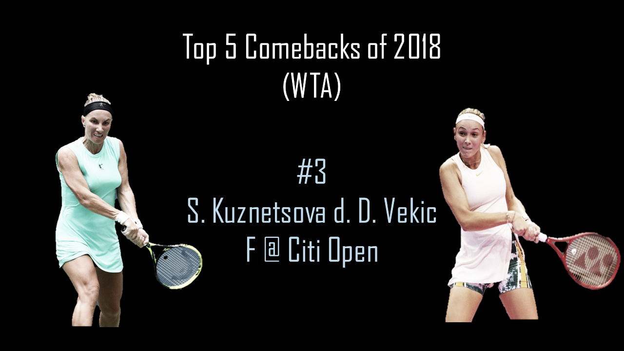 WTA Top 5 Comebacks of 2018: #3 Svetlana Kuznetsova claims Washington throne with Vekic comeback win