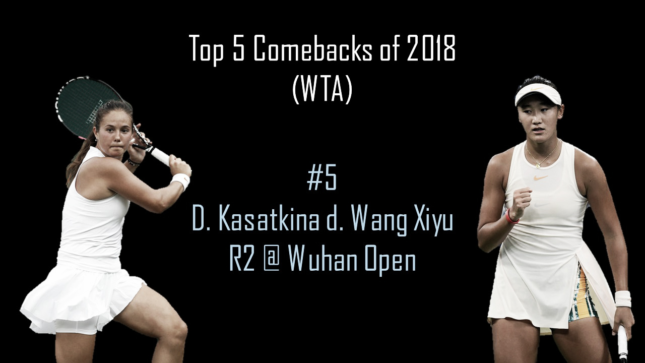 WTA Top 5 Comebacks of 2018: #5 Daria Kasatkina steers to an improbable victory over young starlet Wang Xiyu in Wuhan