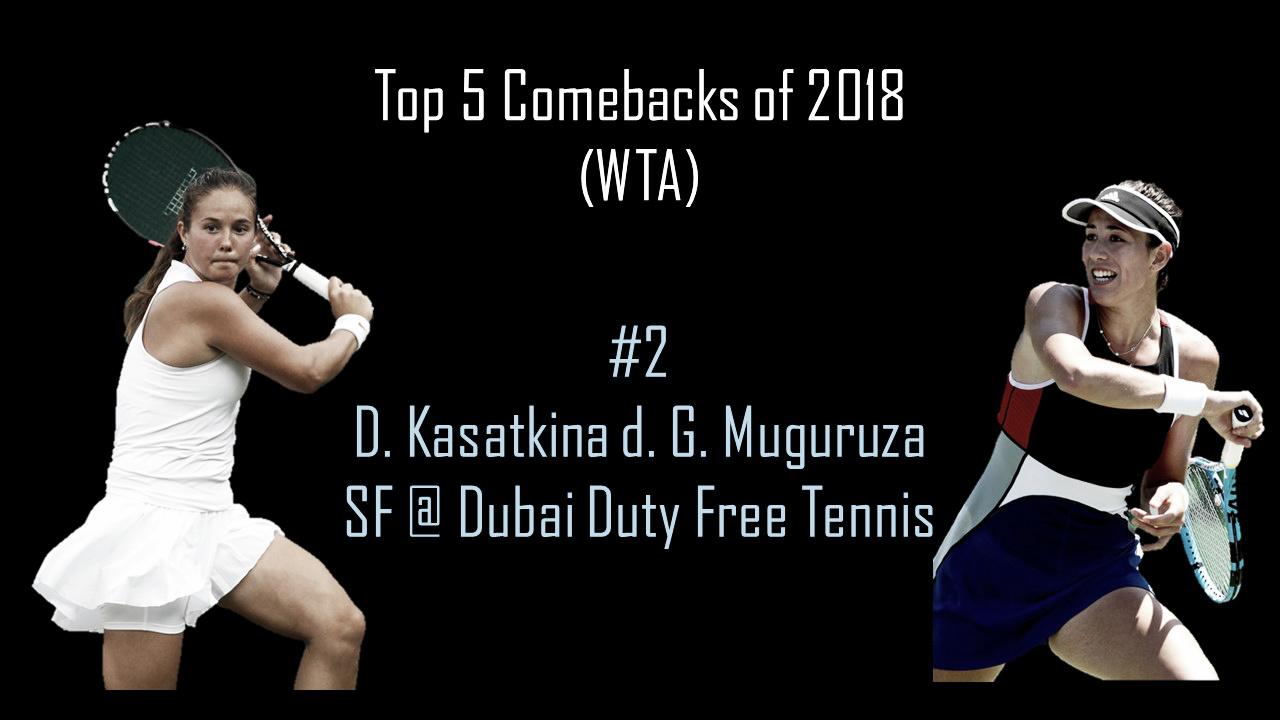 WTA Top 5 Comebacks of 2018: #2 Kasatkina completes miraculous upset over Muguruza in Dubai