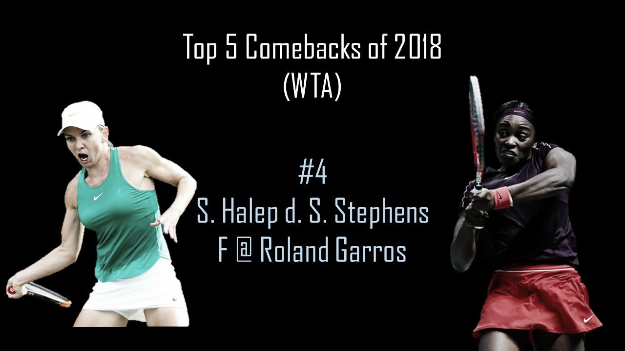 WTA Top 5 Comebacks of 2018: #4 Simona Halep's Paris final heroics against Sloane Stephens