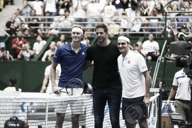 Federer enamoró a los argentinos, pero Zverev se quedó con el partido