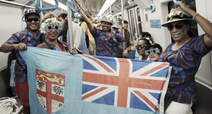 Confiantes no ouro do rúgbi, torcedores de Fiji viajam dois dias até o Rio