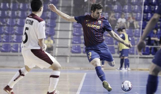 El Barça Alusport sufre pero gana a Caja Segovia