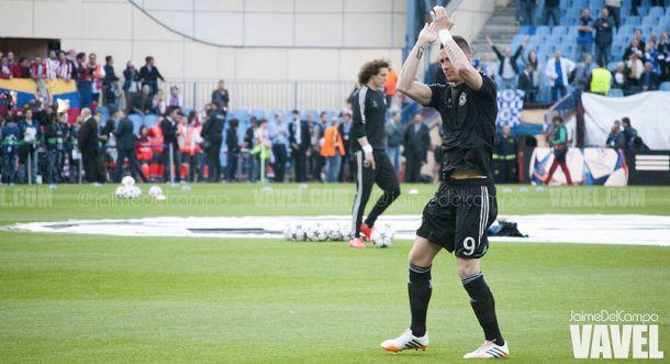Fernando Torres fue ovacionado en su vuelta al Vicente Calderón