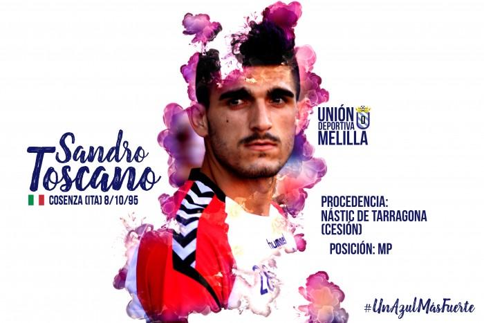 La UD Melilla se refuerza con Sandro Toscano