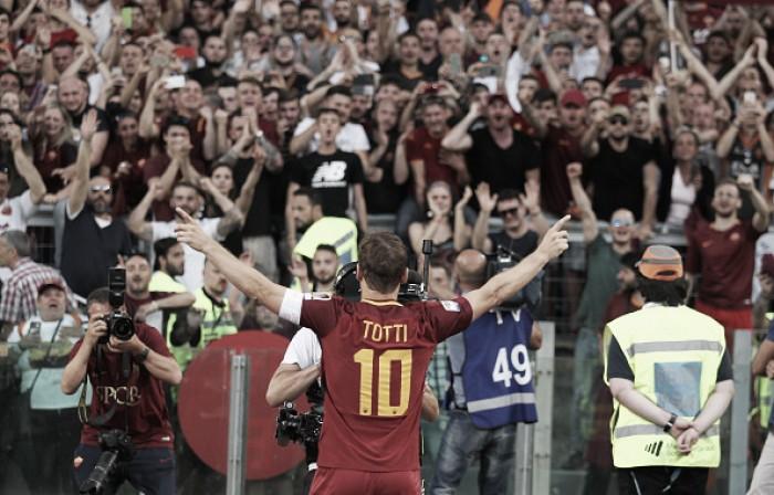 "Em despedida da Roma, Totti relembra título italiano e fala em ""medo do futuro"""