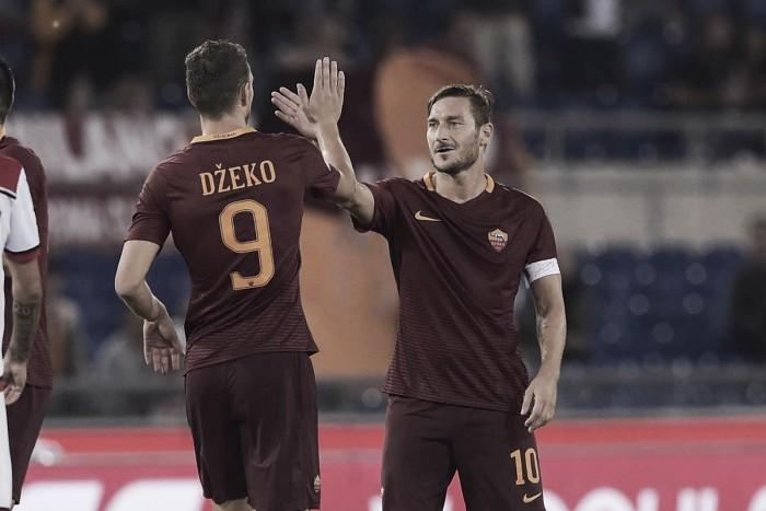 Totti dá assistência, Dzeko brilha e Roma espanta má fase com goleada sobre Crotone