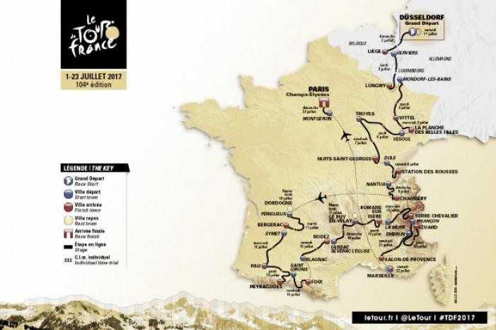 Tour de France 2017, ecco il percorso: c'è anche il Massiccio Centrale