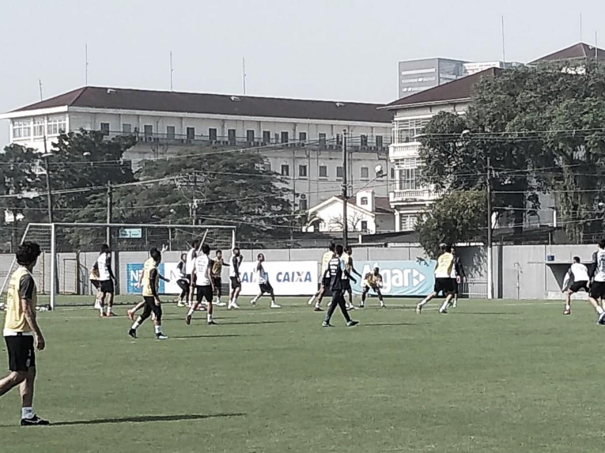 Chulapa esboça time do Santos em véspera de partida contra América-MG