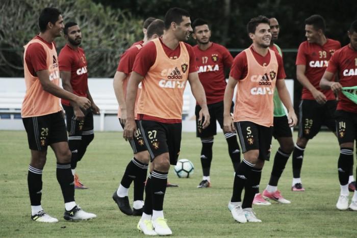 Com retorno de Diego Souza, Sport realiza treinamento visando jogo contra Chapecoense