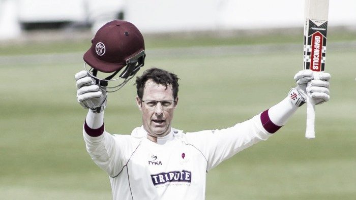 County Championship Division One: Marcus Trescothick leads Somerset fightback as bad weather plays havock throughout the day