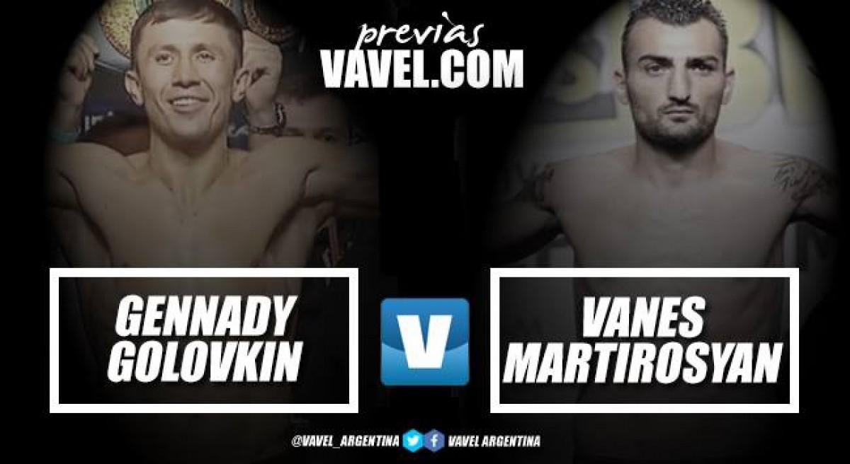 Previa Gennady Golovkin vs Vanes Martirosyan: el 'titular' ante el 'suplente'