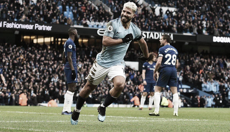 De la mano del Kun el City goleó al Chelsea