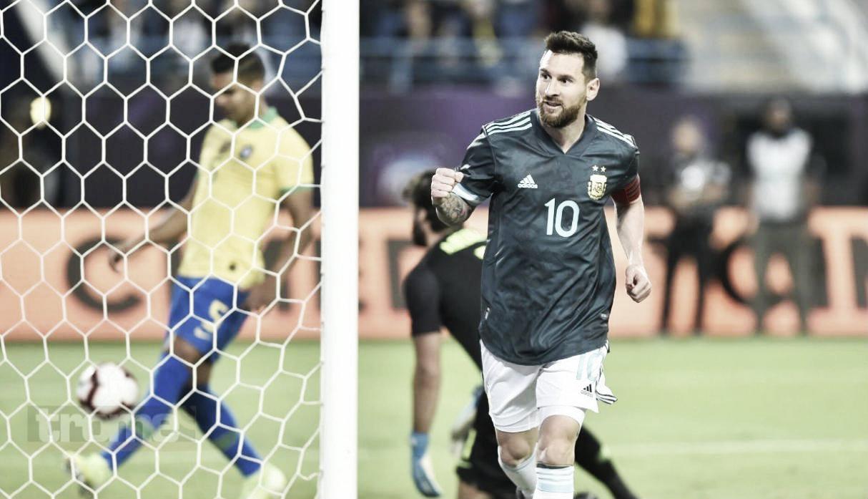 Messi y todos sus partidos frente a Brasil