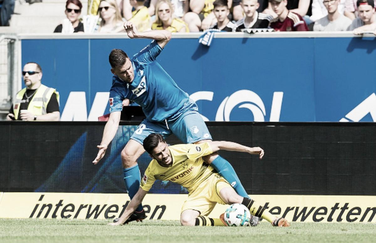 Hoffenheim derrota Borussia Dortmund e assegura vaga à fase de grupos da UCL
