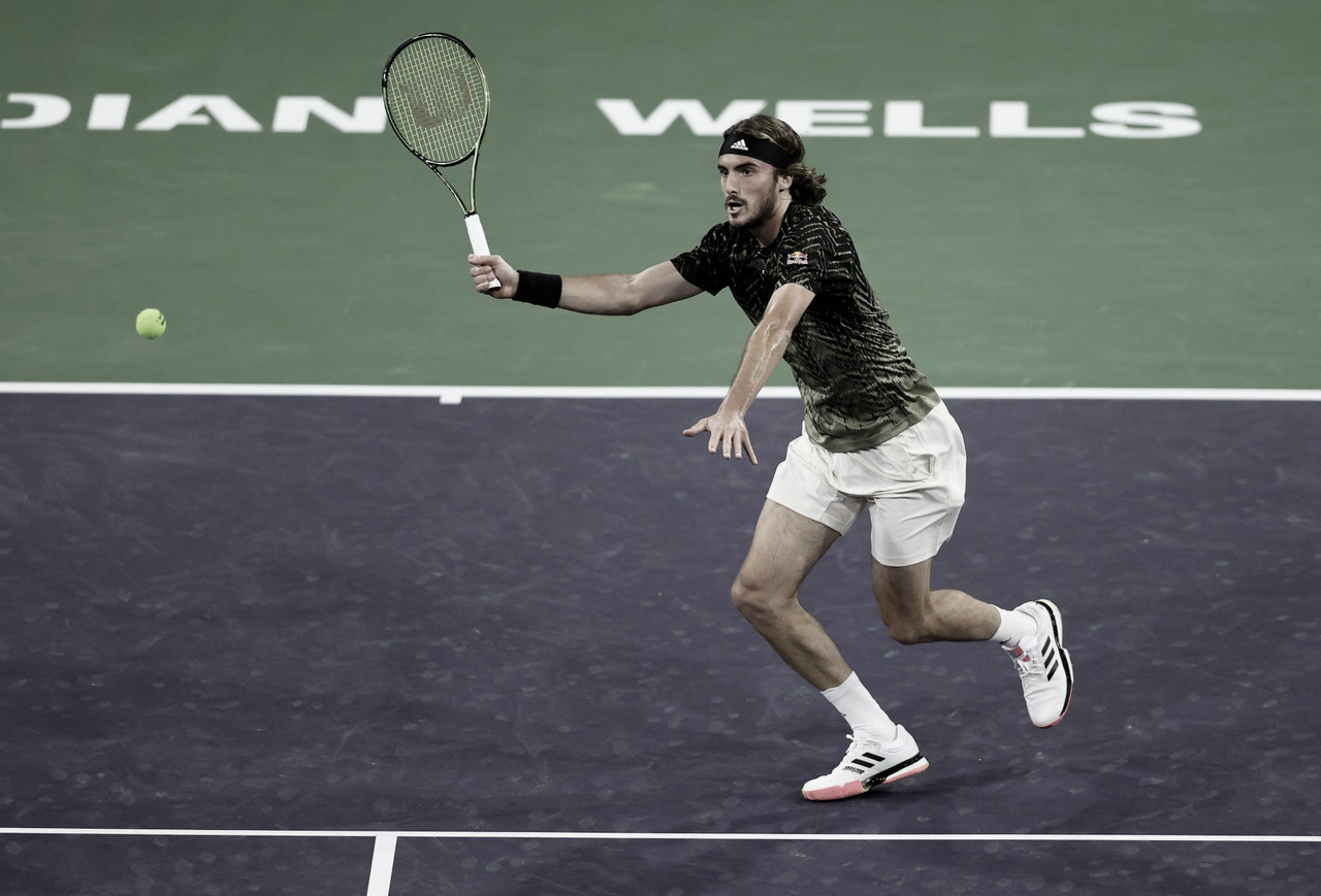 Tsitsipas supera jogo duro contra Fognini e vai às oitavas em Indian Wells