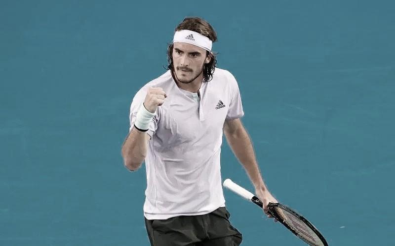 Stefanos Tsitsipas venceuJan-Lennard Struff no ATP Viena 2020 (ATP/Divulgação)