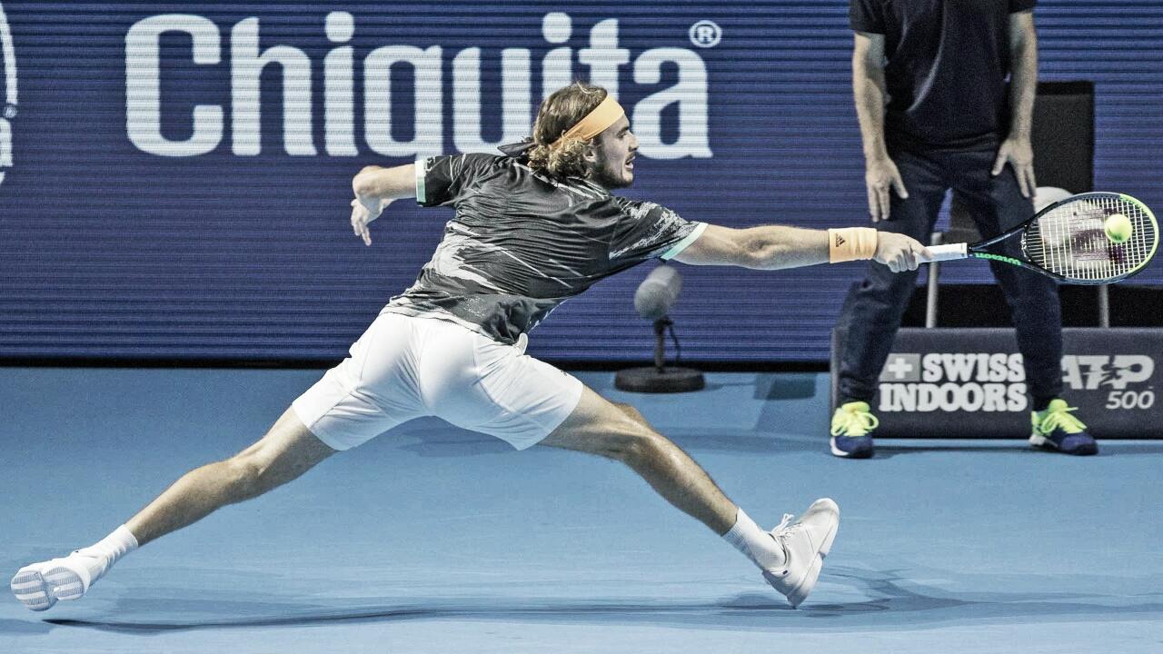Tsitsipas leva susto, mas passa por Berankis e se garante nas quartas do ATP 500 da Basileia