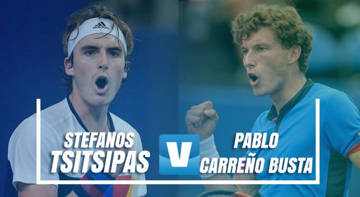 ATP Barcelona: Tsitsipas vs Carreño Busta, dos revelaciones en semis
