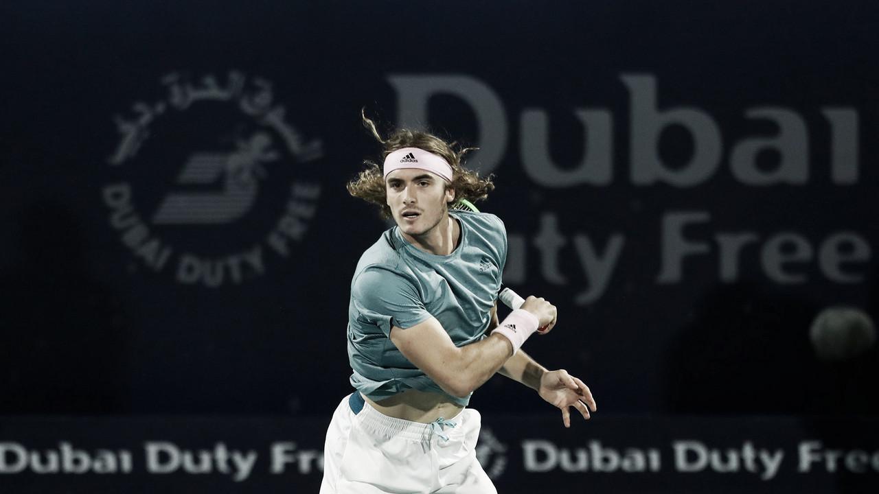Tsitsipas supera oscilação e bate Ebden na estreia em Dubai