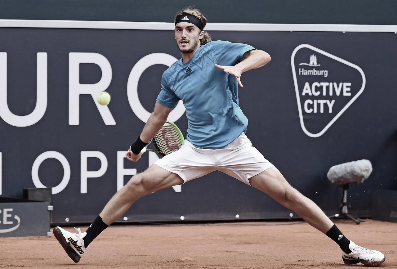 VÍDEO: Com direito a raquete quebrada no meio do ponto, Tsitsipas cai para Krajinovic em Hamburgo