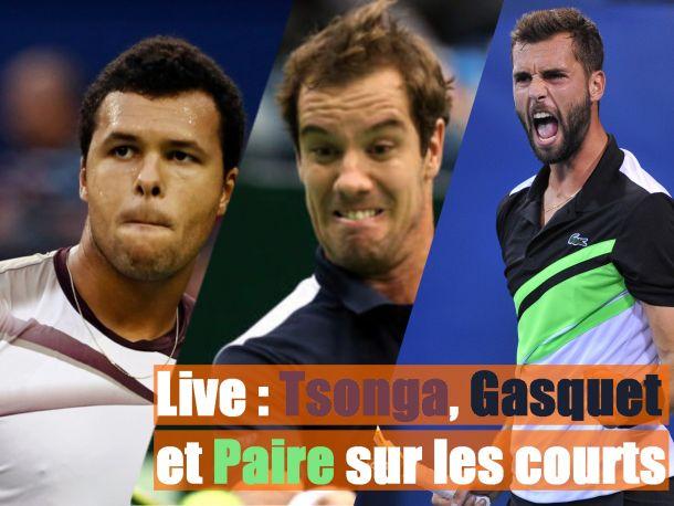 En direct : Paire, Tsonga et Gasquet en demi-finales, suivez les Lives (terminé)