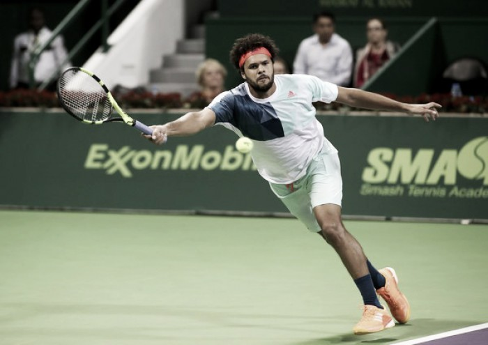 ATP Doha: Jo-Wilfried Tsonga sweeps aside Dustin Brown to reach quarterfinals