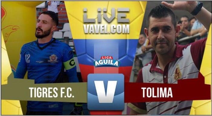 Tigres vs Tolima por la jornada 11, Liga Águila 2017-II (1-1 FT)