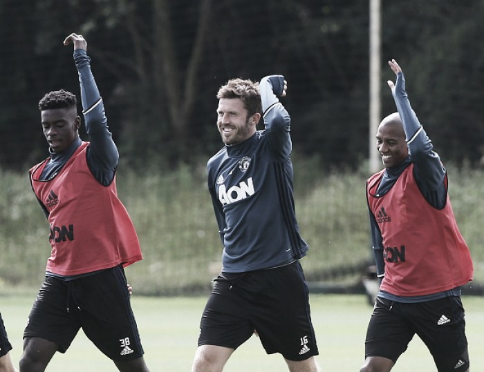 Manchester United train ahead of Wigan clash, Tuanzebe with first team