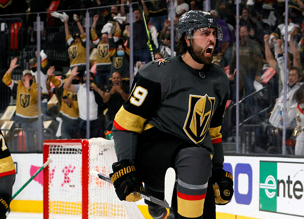 Alex Tuch scores two and Vegas evens the series with Minnesota