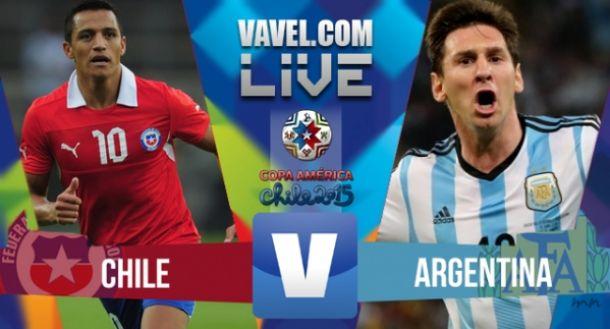 Live Cile - Argentina, risultato Finale Copa America 2015  (d.c.r 4-1)
