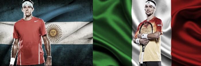 Copa Davis: Itália e Argentina estão prontas para o duelo nas quartas