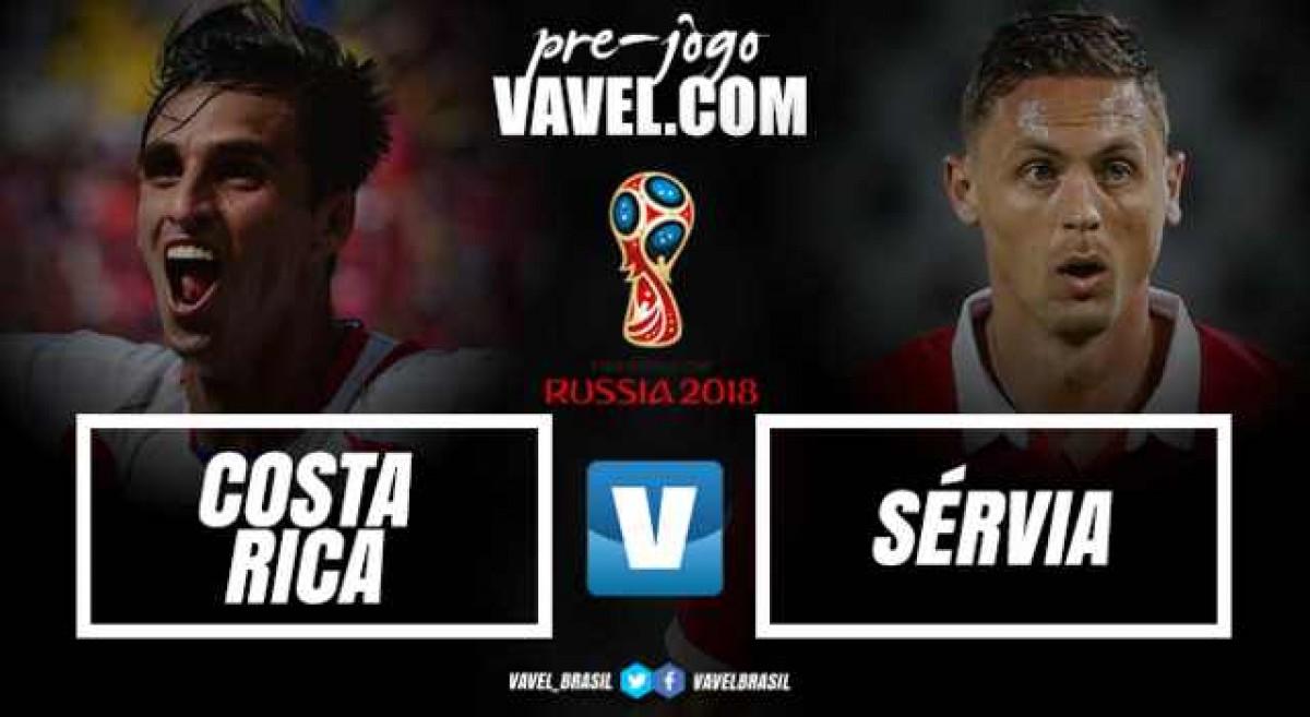 O primeiro da história: Costa Rica e Sérvia abrem grupo E com confronto inédito em Copas