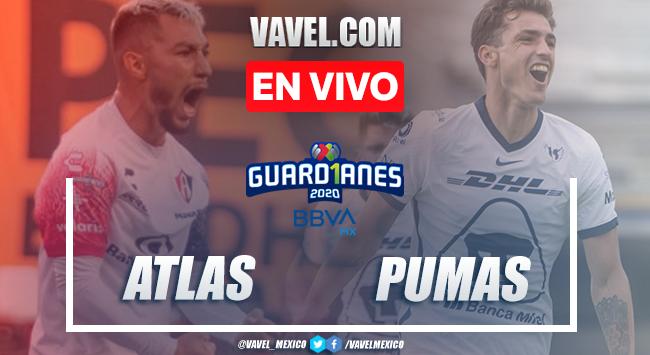 Goles y resumen del partido Atlas 1-2 Pumas en Liga MX 2020