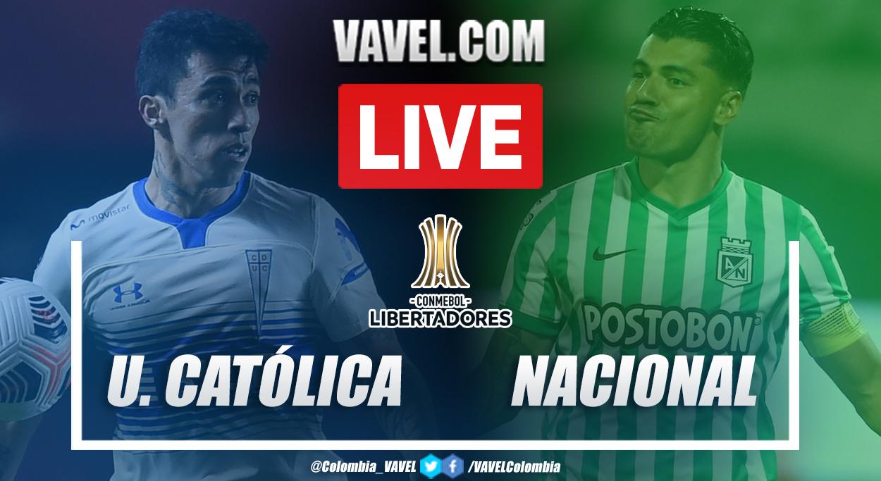 Resumen Universidad Católica vs Atlético Nacional (2-0) en la fecha 6 del grupo F por Copa Libertadores 2021