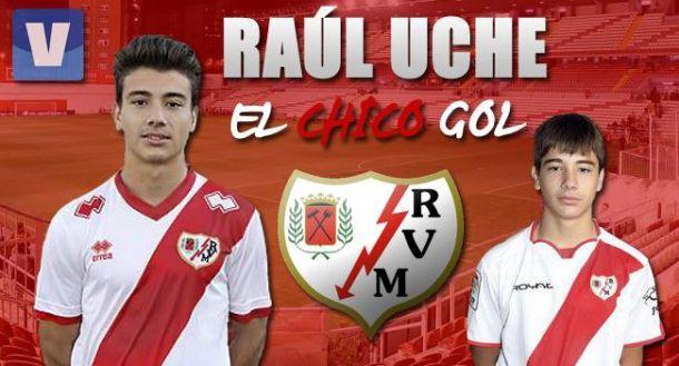 Raúl Uche, el chico gol de la cantera franjirroja