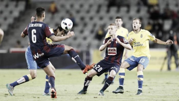 UD Las Palmas - SD Eibar: puntuaciones de la UD Las Palmas, vuelta de los octavos de final de la Copa del Rey