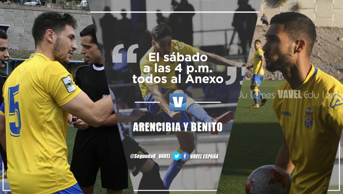 """Entrevista. Arencibia y Benito lo tienen claro: """"El sábado a las 4 p.m. todos al Anexo. Les necesitamos"""""""