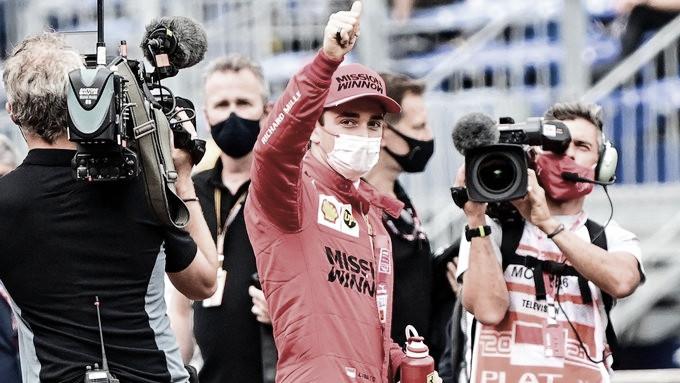 Leclerc, pole en casa