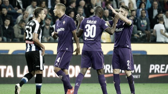 Fiorentina fica atrás do placar duas vezes, mas busca empate contra Udinese fora de casa