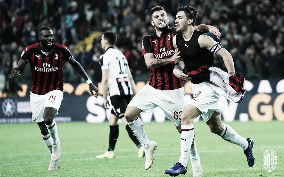 Com gol aos 52 do segundo tempo, Romagnoli decide outra vez e Milan vence Udinese