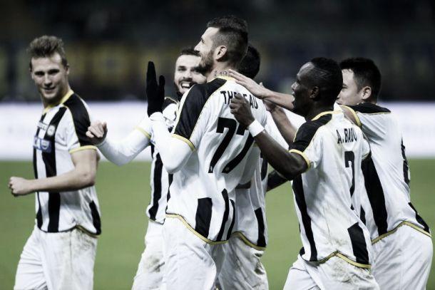 Risultato Udinese 3-1 Novara in Coppa Italia 2015/16: i friulani passano il turno