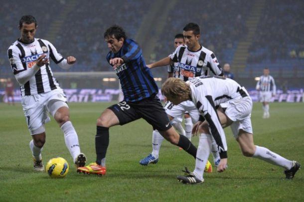 Udinese - Inter: c'è Milito dal primo minuto